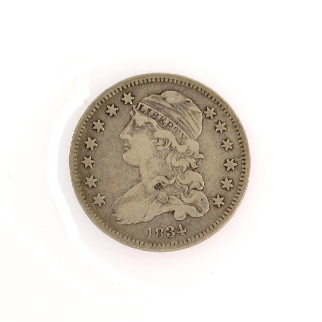 1834 Capped Bust Quarter Dollar Coin
