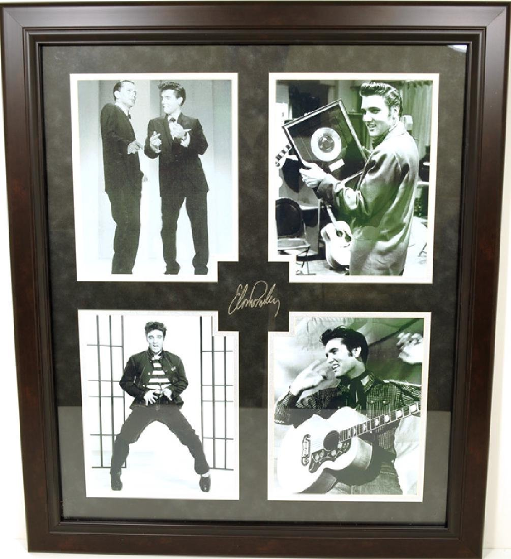 Elvis Presley Collage -P- Engraved Signature