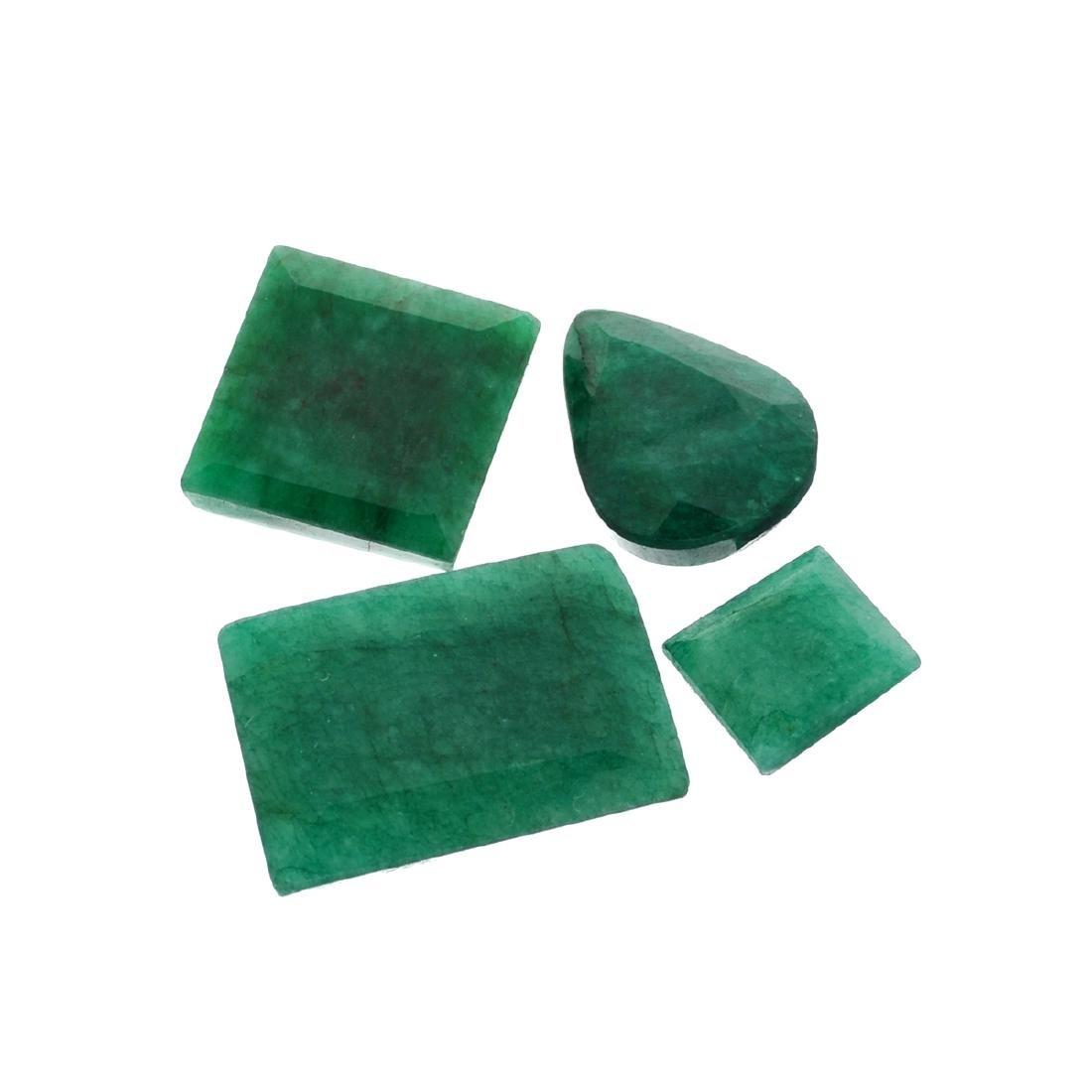 APP: 7.7k 103.30CT Pear/Rectangular Cut Green Emeral