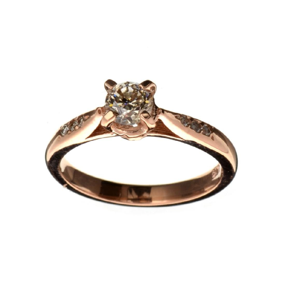 APP: 5.8k Fine Jewelry 14 kt. Rose Gold, 0.56CT Round