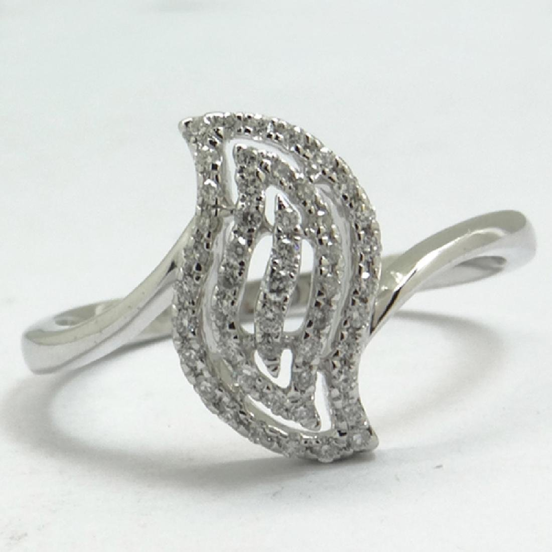 *Fine Jewelry 14 kt. White Gold, 0.19CT Round Cut