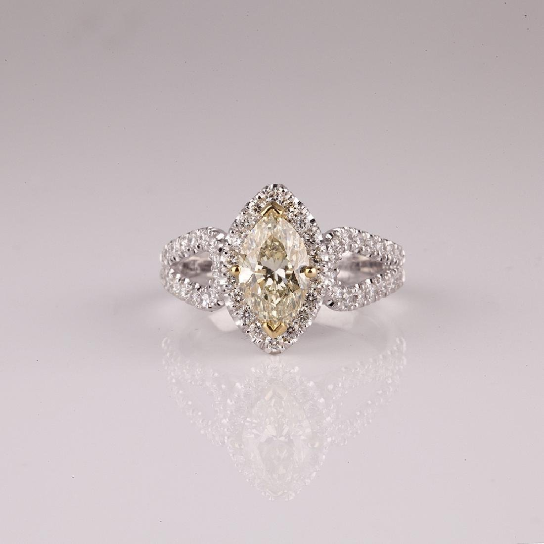 APP: 10.4k *14 kt. Two Tone Gold, 1.55CT Diamond Ring