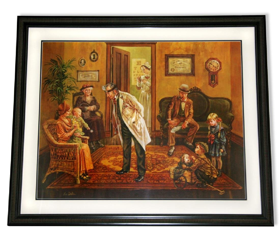 Lee Dubin- Framed Lithograph-Signature ''Doctors
