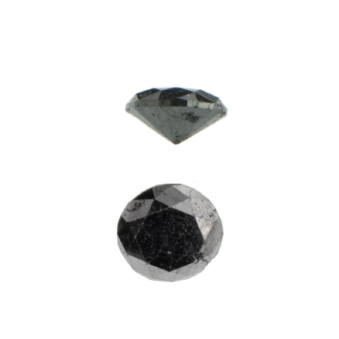 APP: 0.6k 0.72CT Round Cut Black Diamond Gemstone