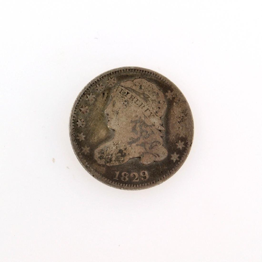 1829 Capped Bust Dime Coin