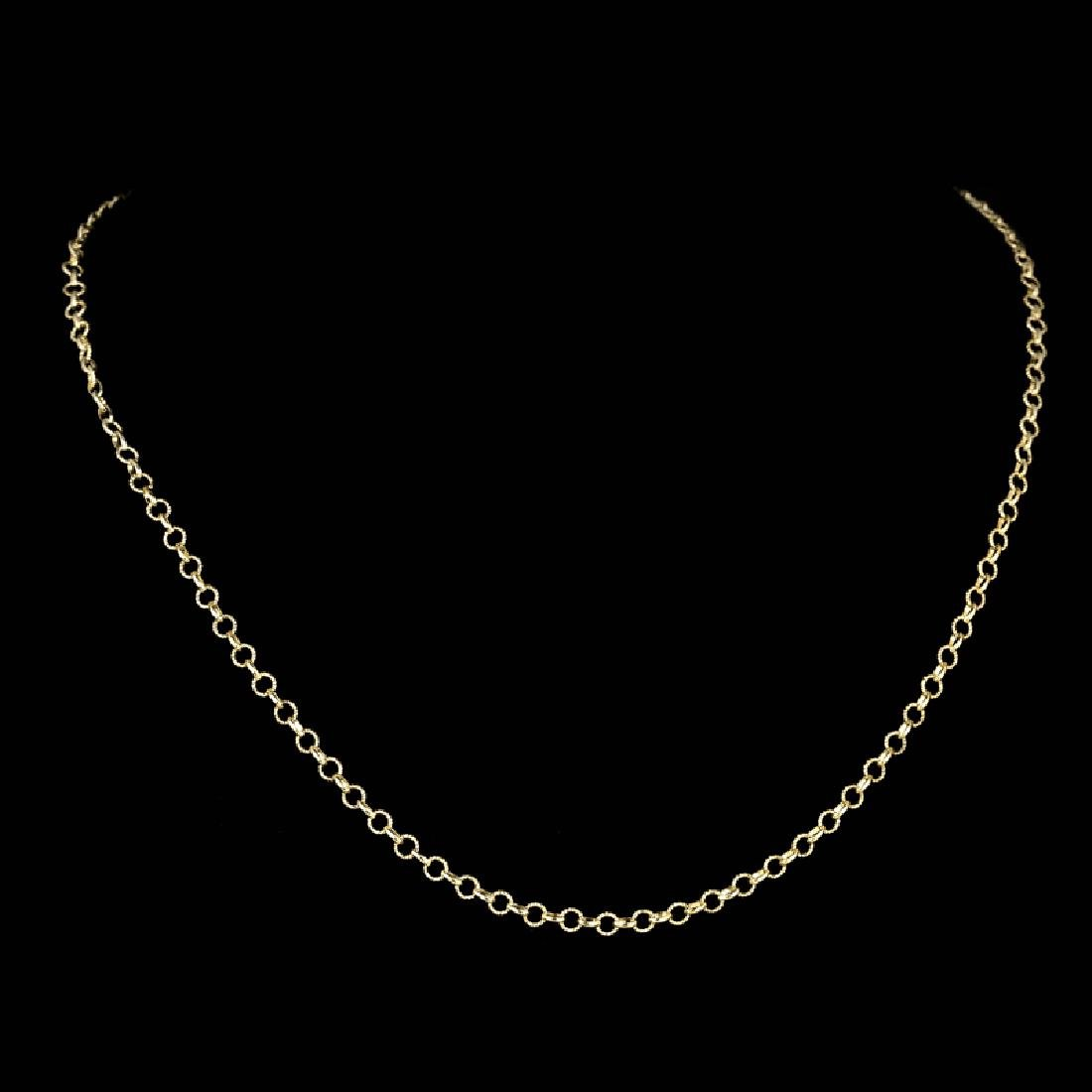 *Fine Jewelry 14KT Gold, 4.8GR, 18'' Twisted Round And