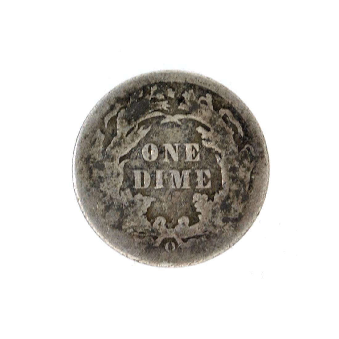 1891-O Liberty Seated Dime Coin - 2