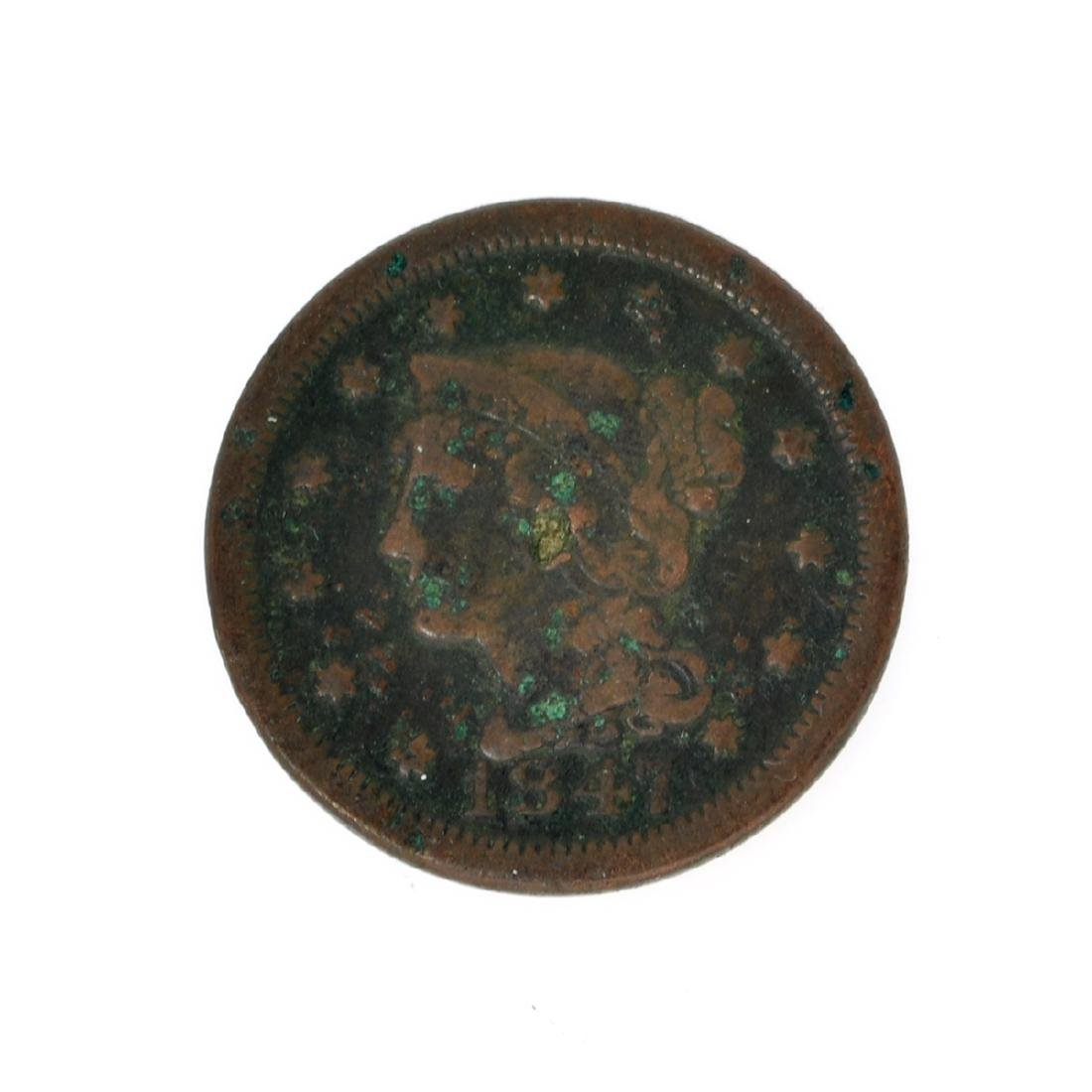 Rare Rare 1847 Large Cent Coin