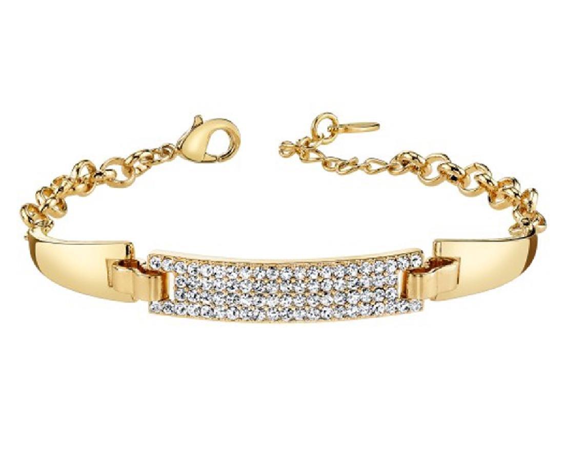 Gold And Sparkle Swarovski Crystal Bracelet