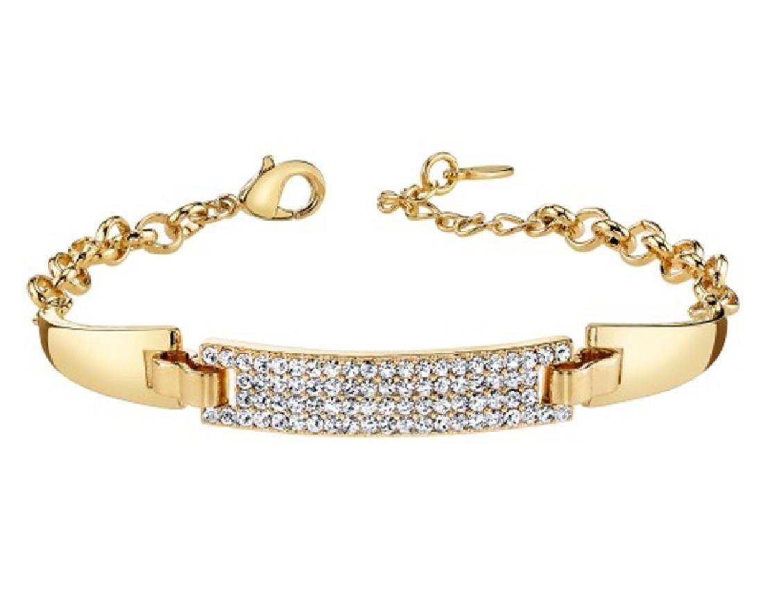 Gold And Sparkle Swarovski Crystal Bracelet