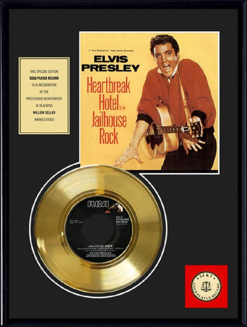 ELVIS PRESLEY ''Jailhouse Rock'' Gold Record