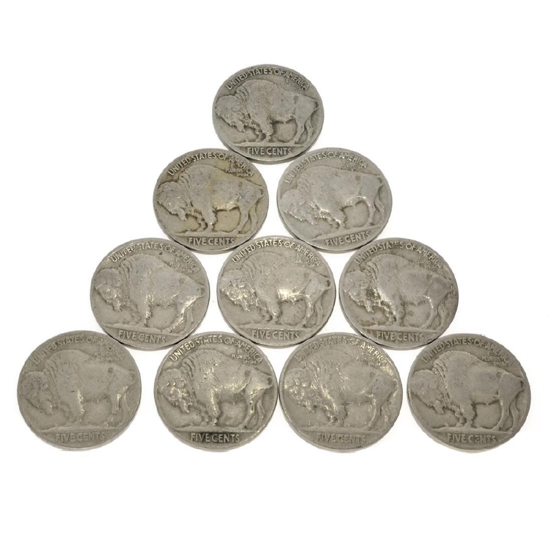 10 Misc. Buffalo Nickel Coins - 2