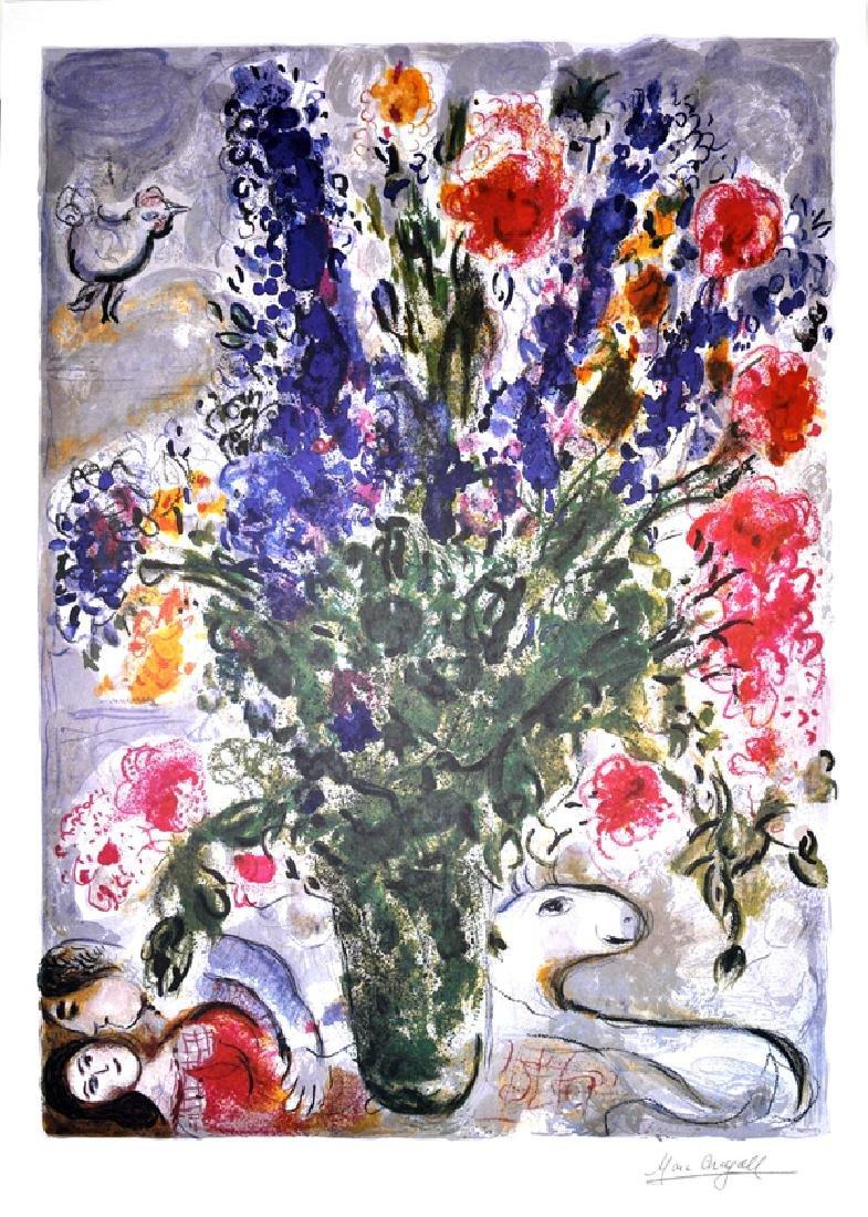MARC CHAGALL (After) Les Lupins Bleu Print, I77 of 500