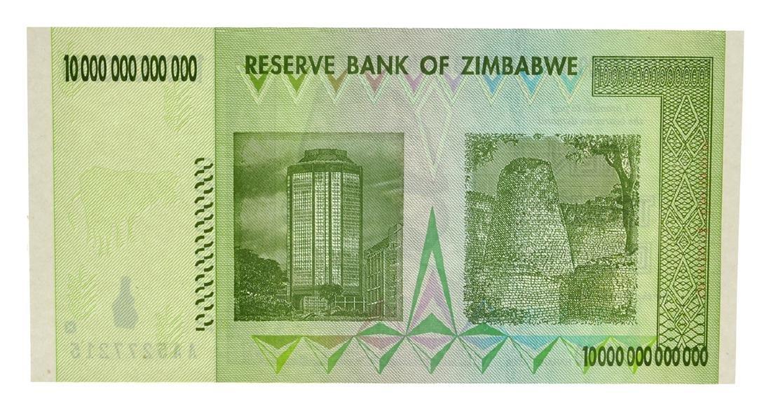 10 Trillion Dollar Zimbabwe Note - 2