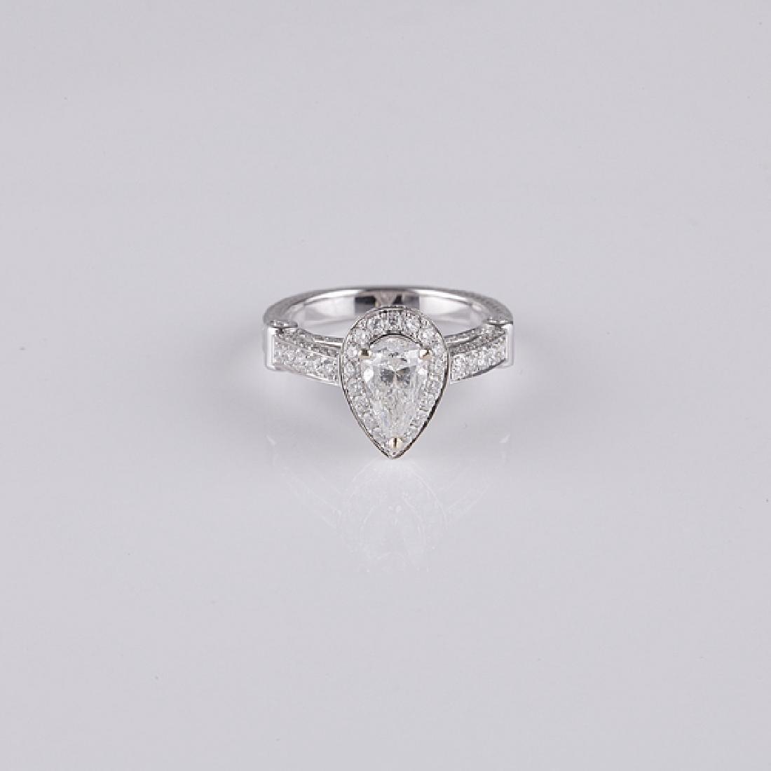 *1.02CT Pear Cut Diamond Ring (Romi)