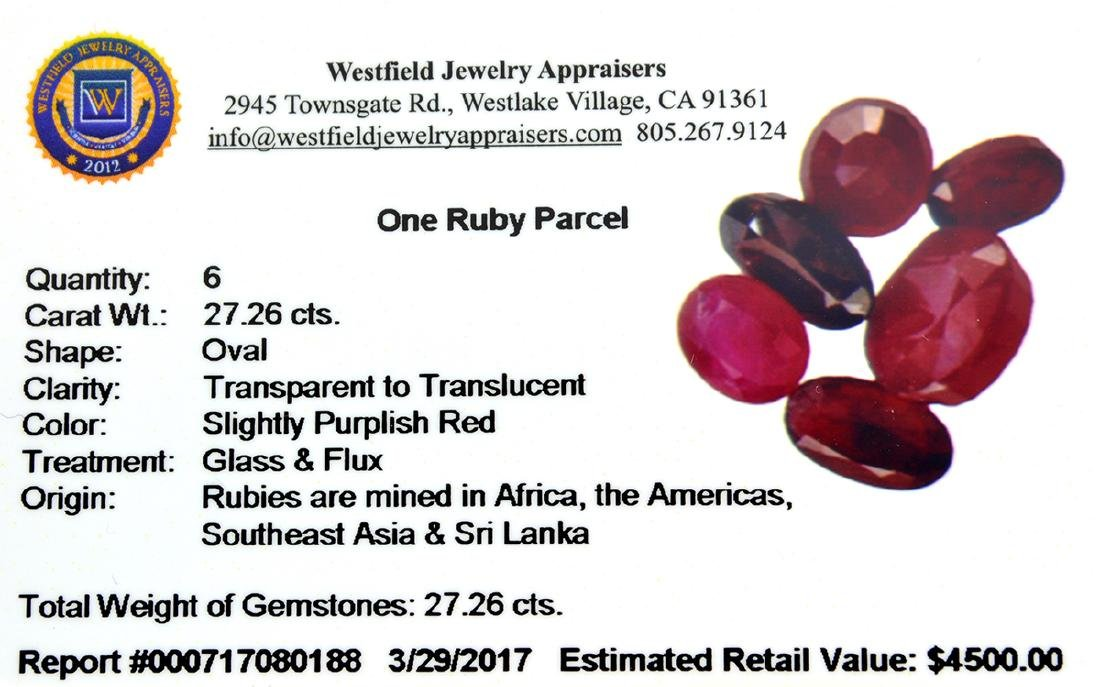 APP: 4.5k 27.26CT Oval Cut Ruby Parcel - 2