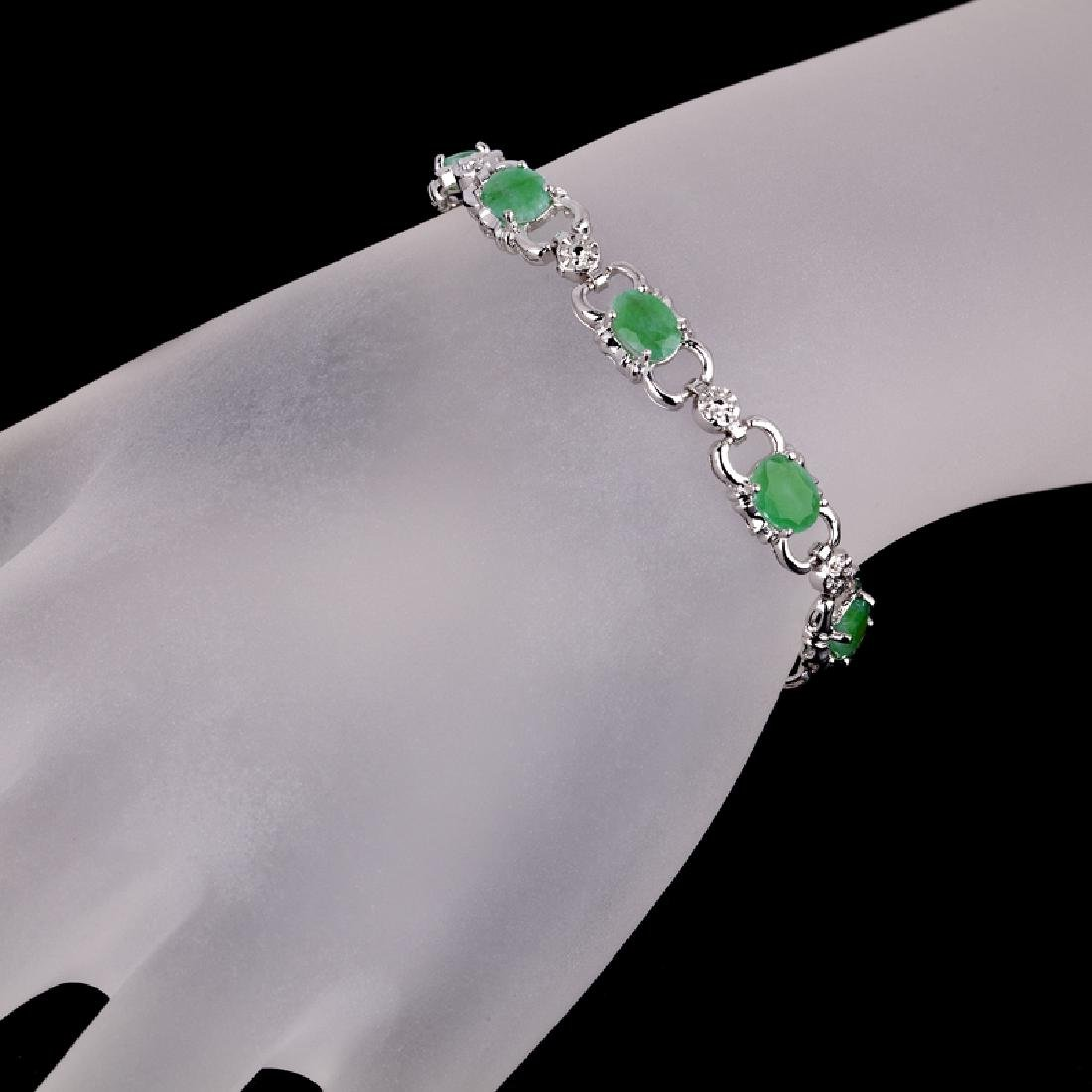 APP: 7.5k Fine Jewelry 4.15CT Oval Cut Green Beryl