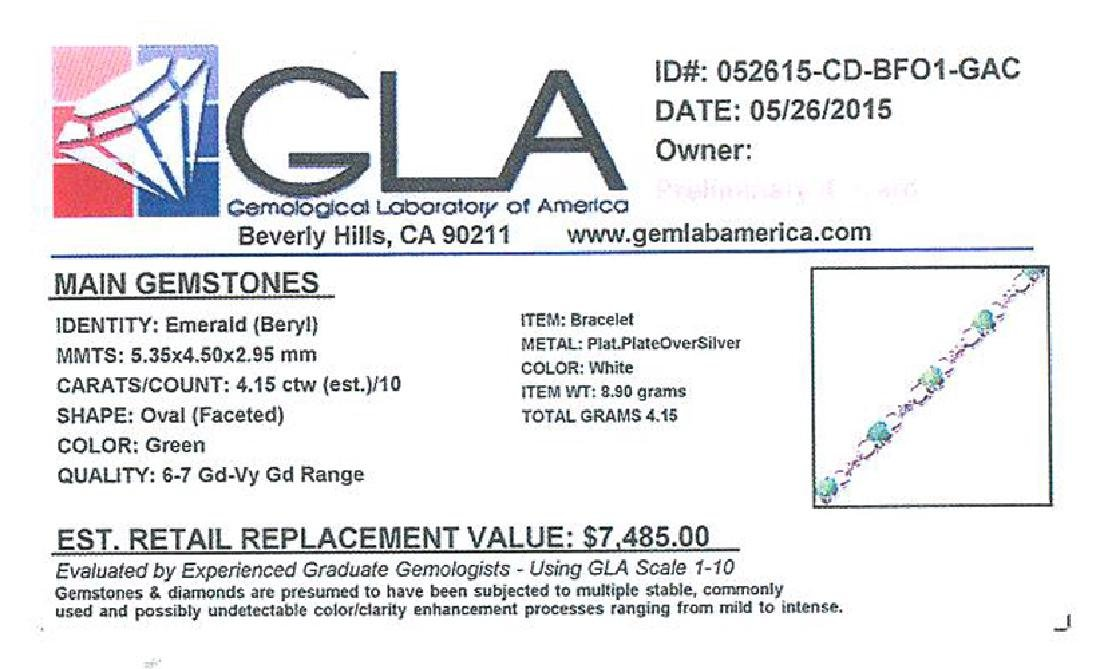 APP: 7.5k Fine Jewelry 4.15CT Oval Cut Green Beryl - 2