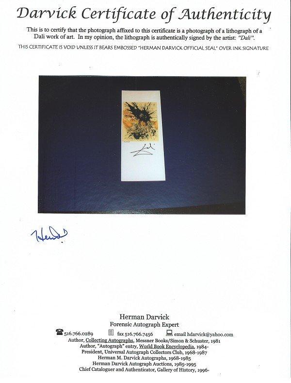 1317: Chagall, Zusatzblatt Hand Signed Book Photo