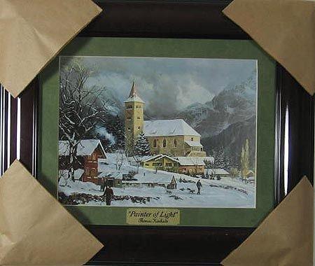 1321: Thomas Kinkade - Museum Framed Small, Calendar Pr