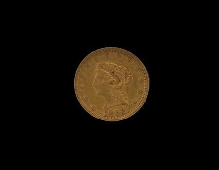 1311: 1853 $2.5 US Gold Coin, COLLECT!