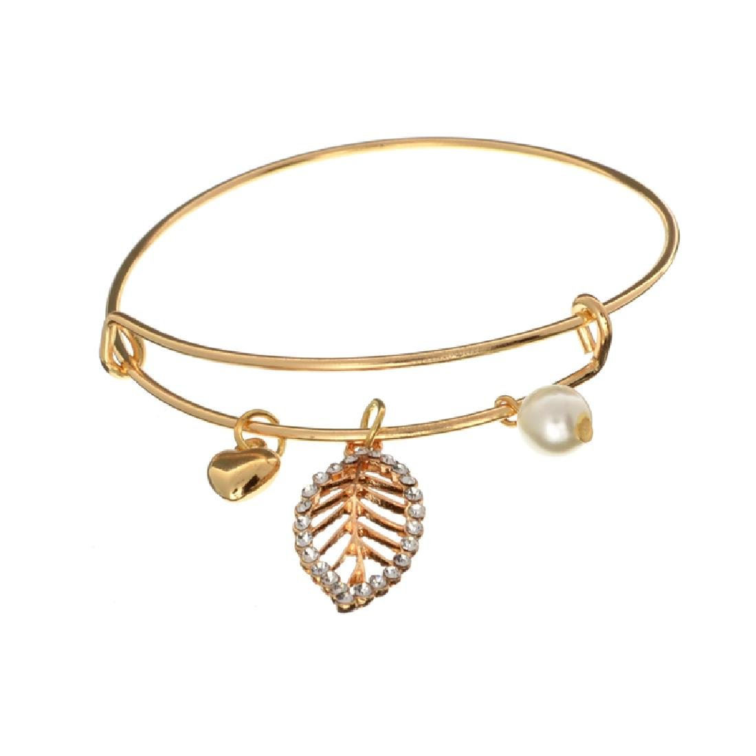 18KT Gold Plated Natural Shell Pearl And Swarovski