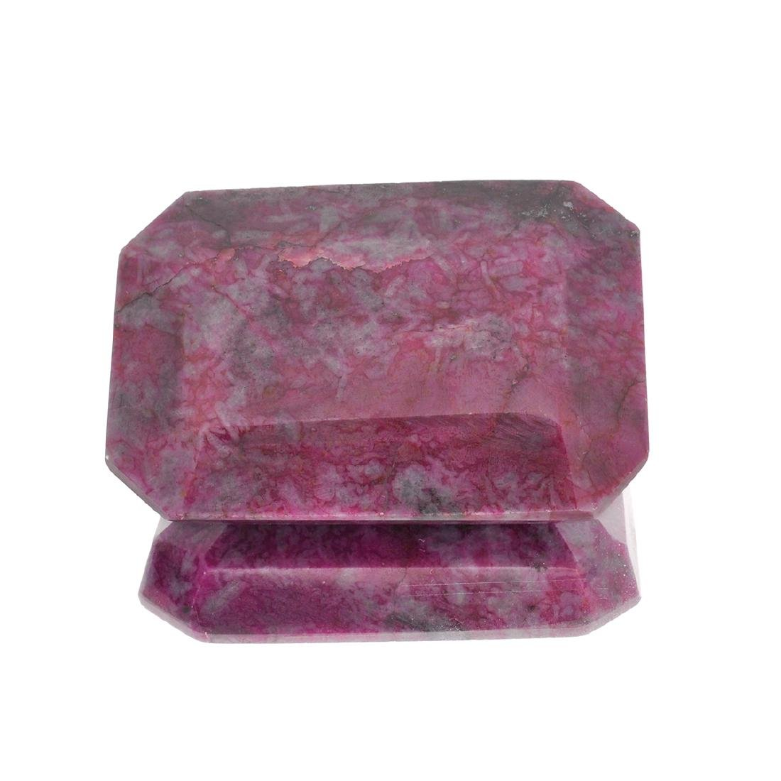 APP: 1.8k 702.65CT Rectangular Cut Ruby Gemstone