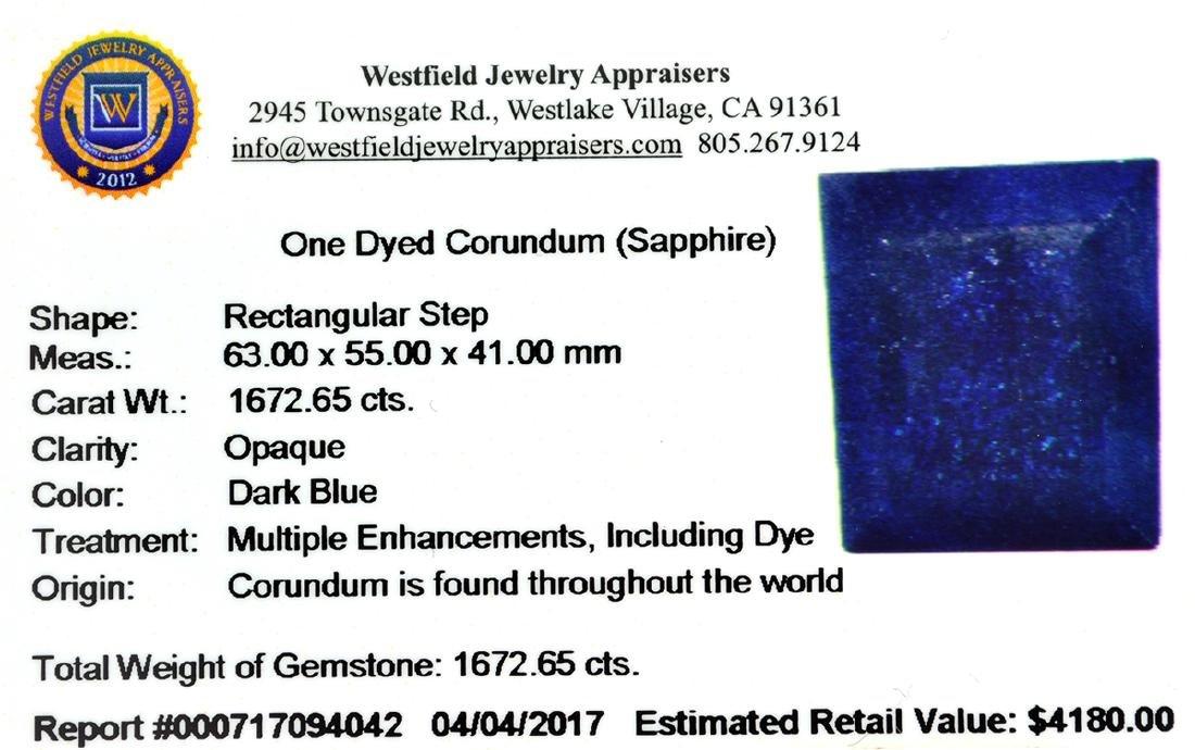 APP: 4.2k 1,672.65CT Rectangular Step Cut Blue Sapphire - 3