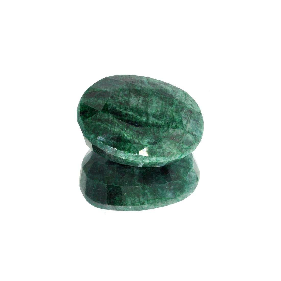 APP: 5.5k 73.15CT Oval Cut Green Emerald Gemstone