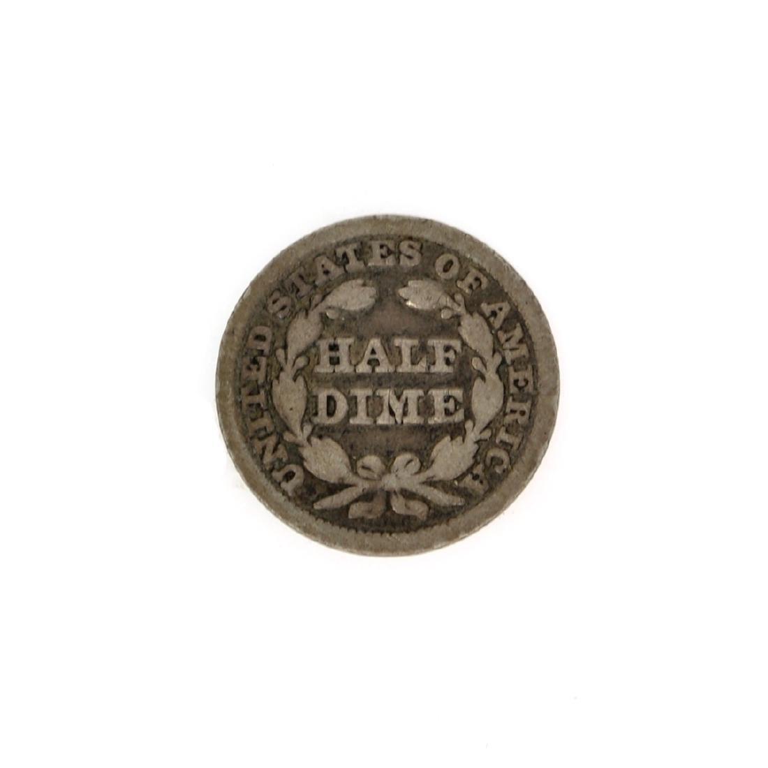 Rare 1849 Liberty Seated Half Dime Coin - 2