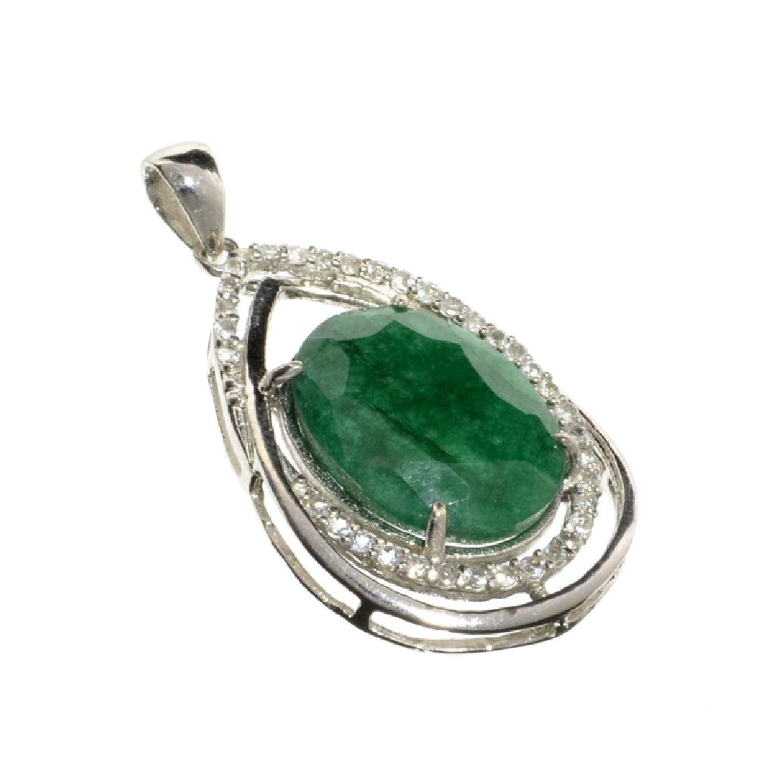 APP: 3.2k Fine Jewelry 8.58CT Green Beryl Emerald And