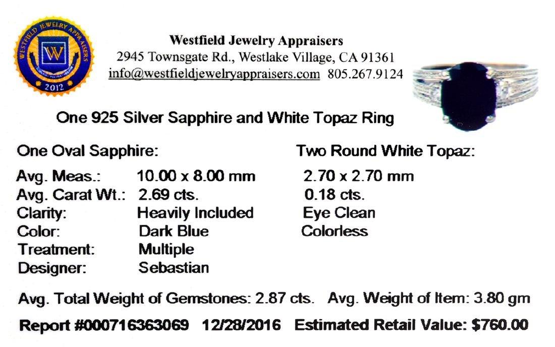 APP: 0.8k Fine Jewelry Designer Sebastian, 2.87CT Bllue - 2