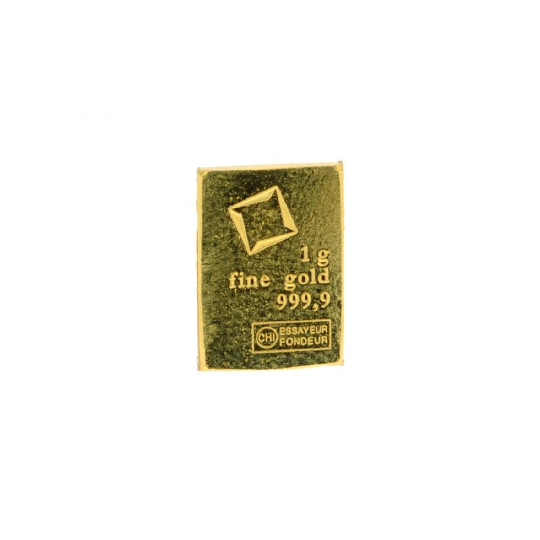 Beautiful 1 gram Valcambi Suisse Fine Gold Bar