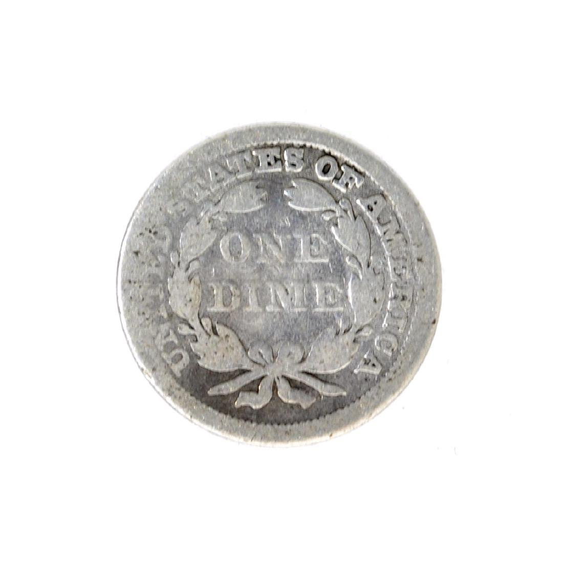 185X Liberty Seated Dime Coin - 2