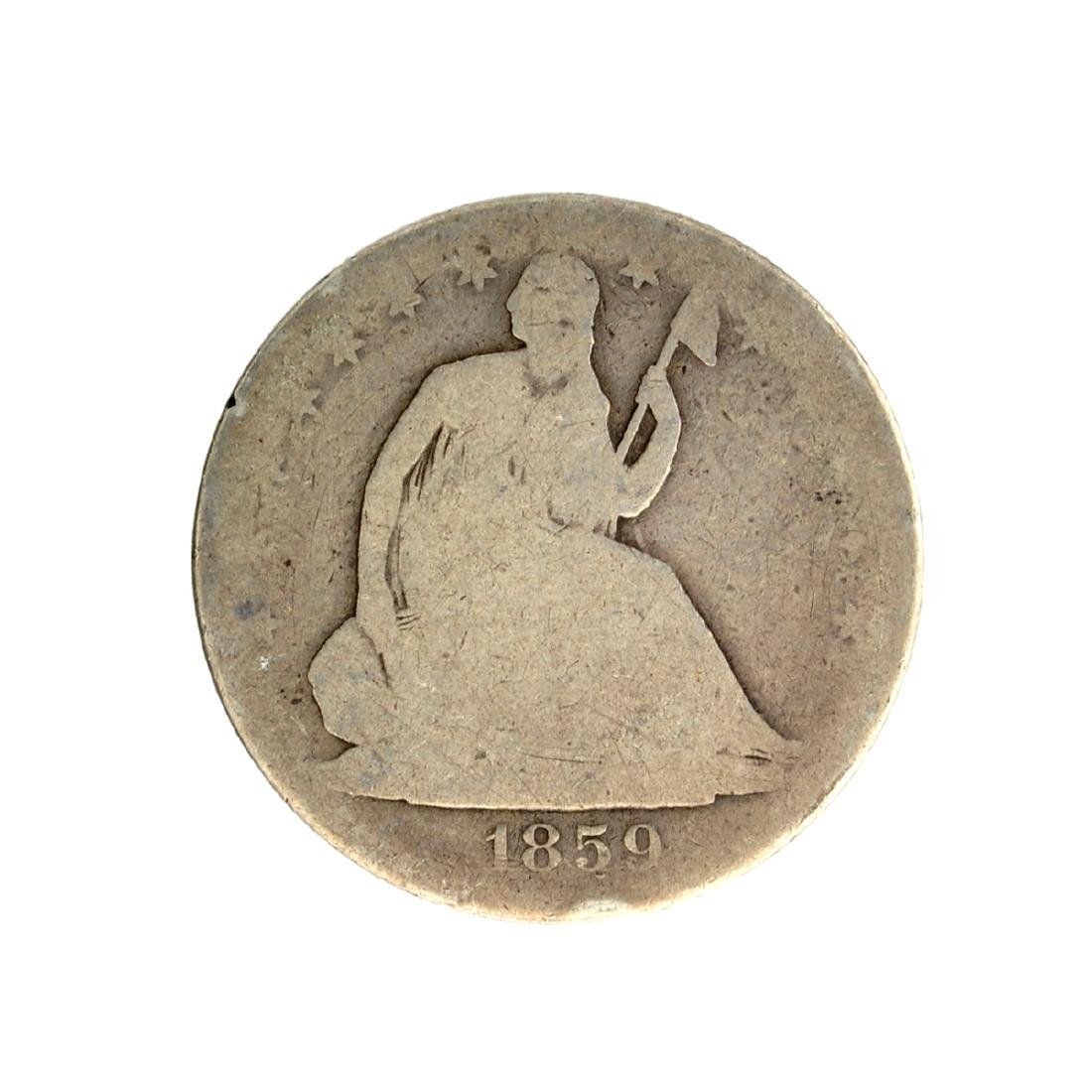 1859-O Liberty Seated Half Dollar Coin