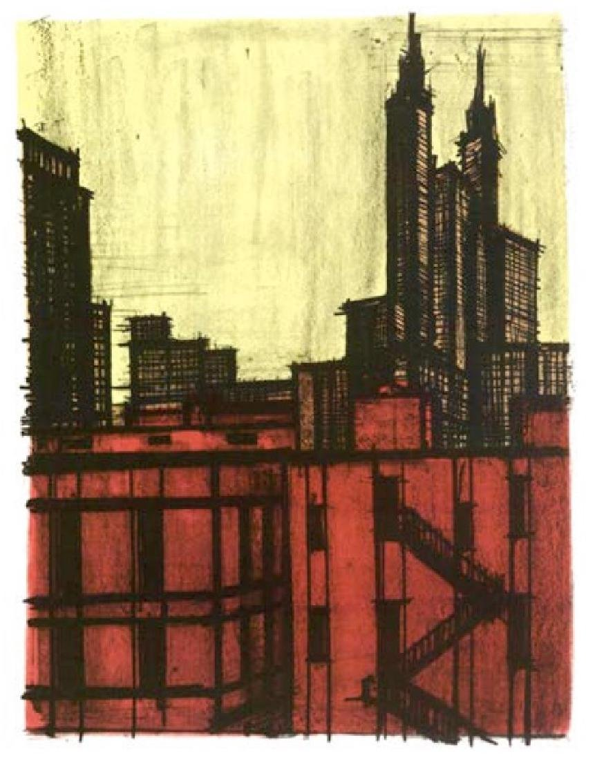 Bernard Buffet Lithograph ''''New York VII'''' 18 x 24