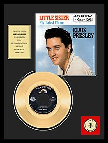 2006: ELVIS PRESLEY ''Little Sister'' Gold LP