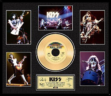 2017: KISS ''Calling Dr. Love'' Gold LP