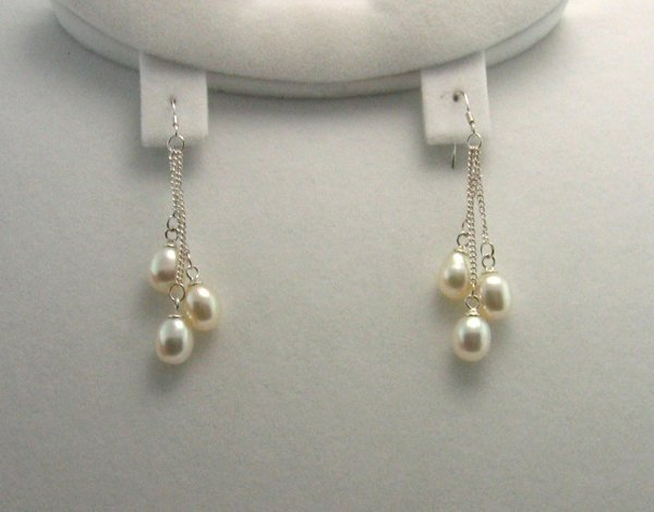 2021: GOV: Sterling Silver Pearl Earrings, INVESTMENT!!