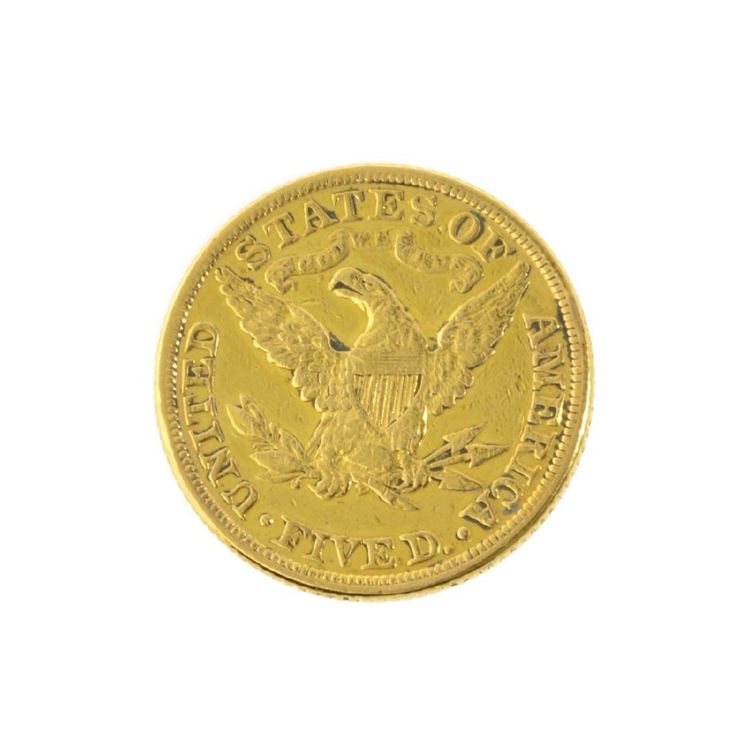 *1881 $5 U.S. Liberty Head Gold Coin (JG-MRT) - 2