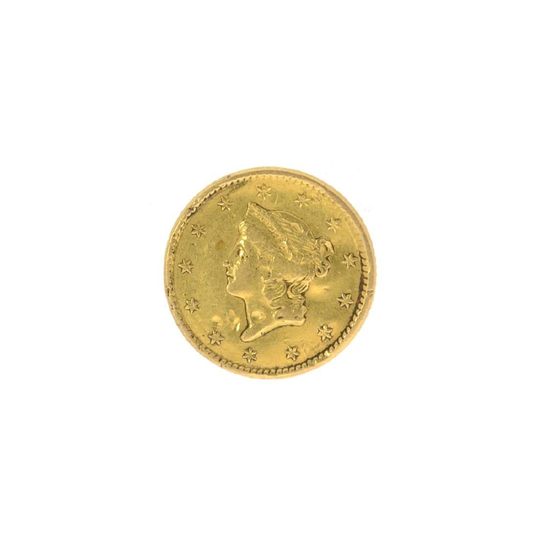 *1850 $1 U.S. Liberty Head Gold Coin (JG N)