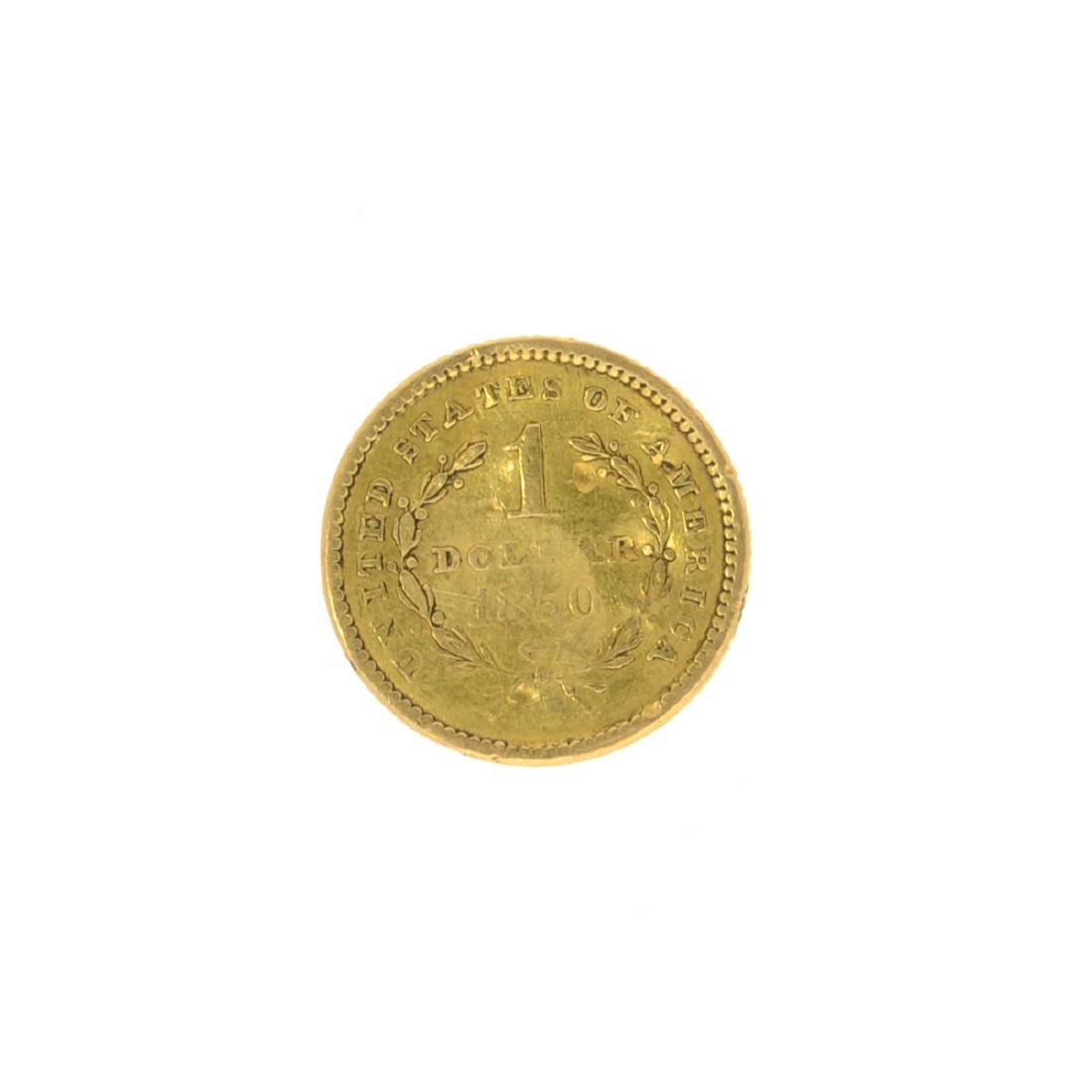 *1850 $1 U.S. Liberty Head Gold Coin (JG N) - 2