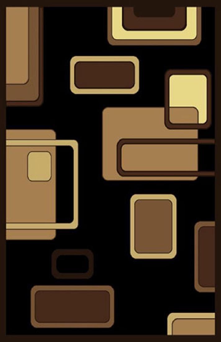 Gorgeous 5x8 Emirates Black & Brown Rug  Plush, High