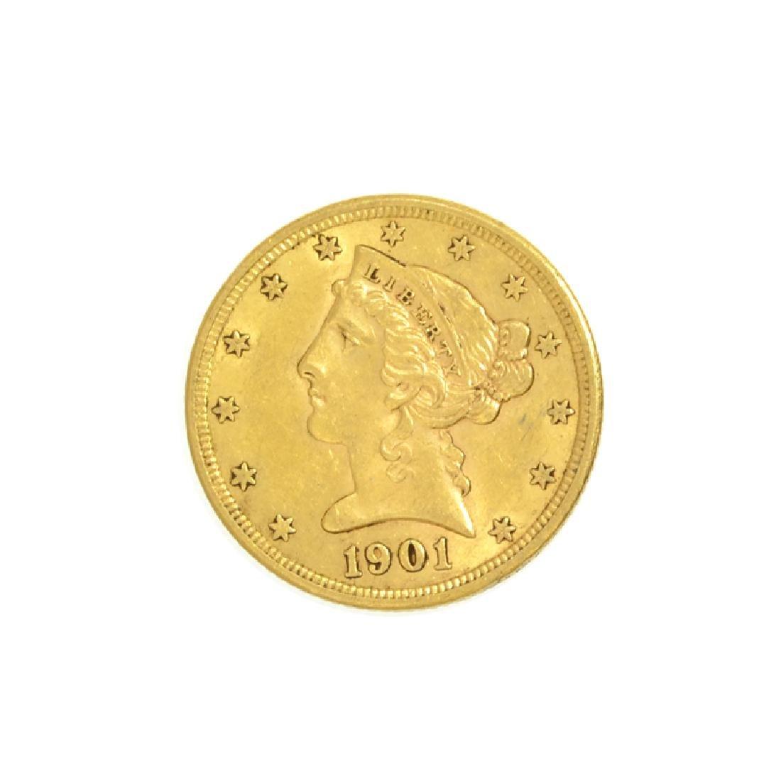 *1901-S $5 U.S. Liberty Head Gold Coin (DF)