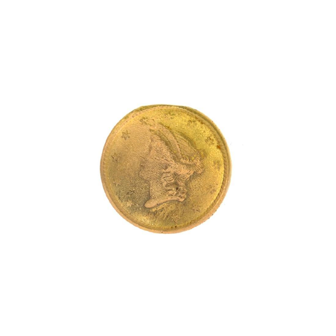 *1852 $1 U.S. Liberty Head Gold Coin (JG N)
