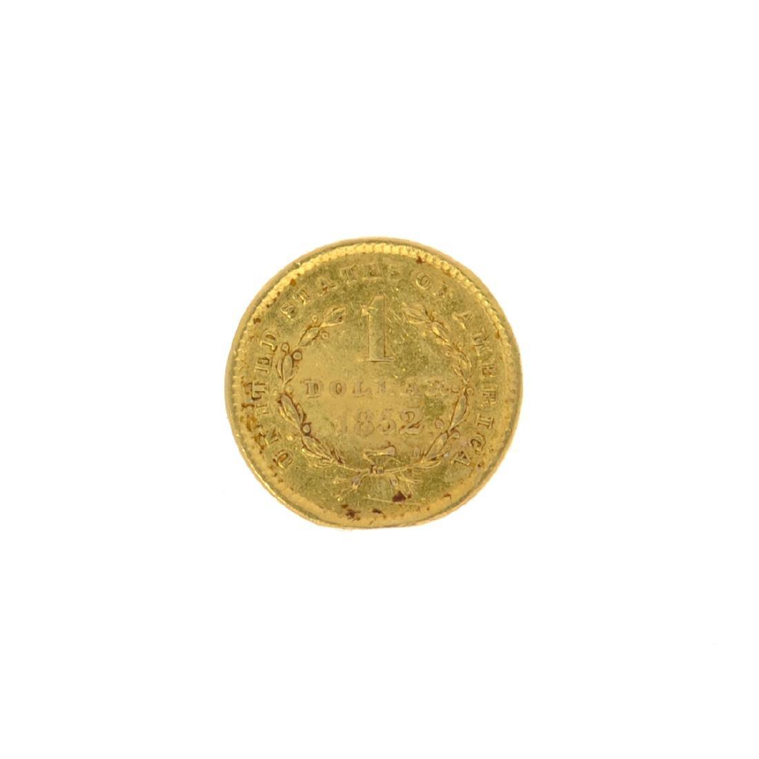 *1852 $1 U.S. Liberty Head Gold Coin (JG N) - 2