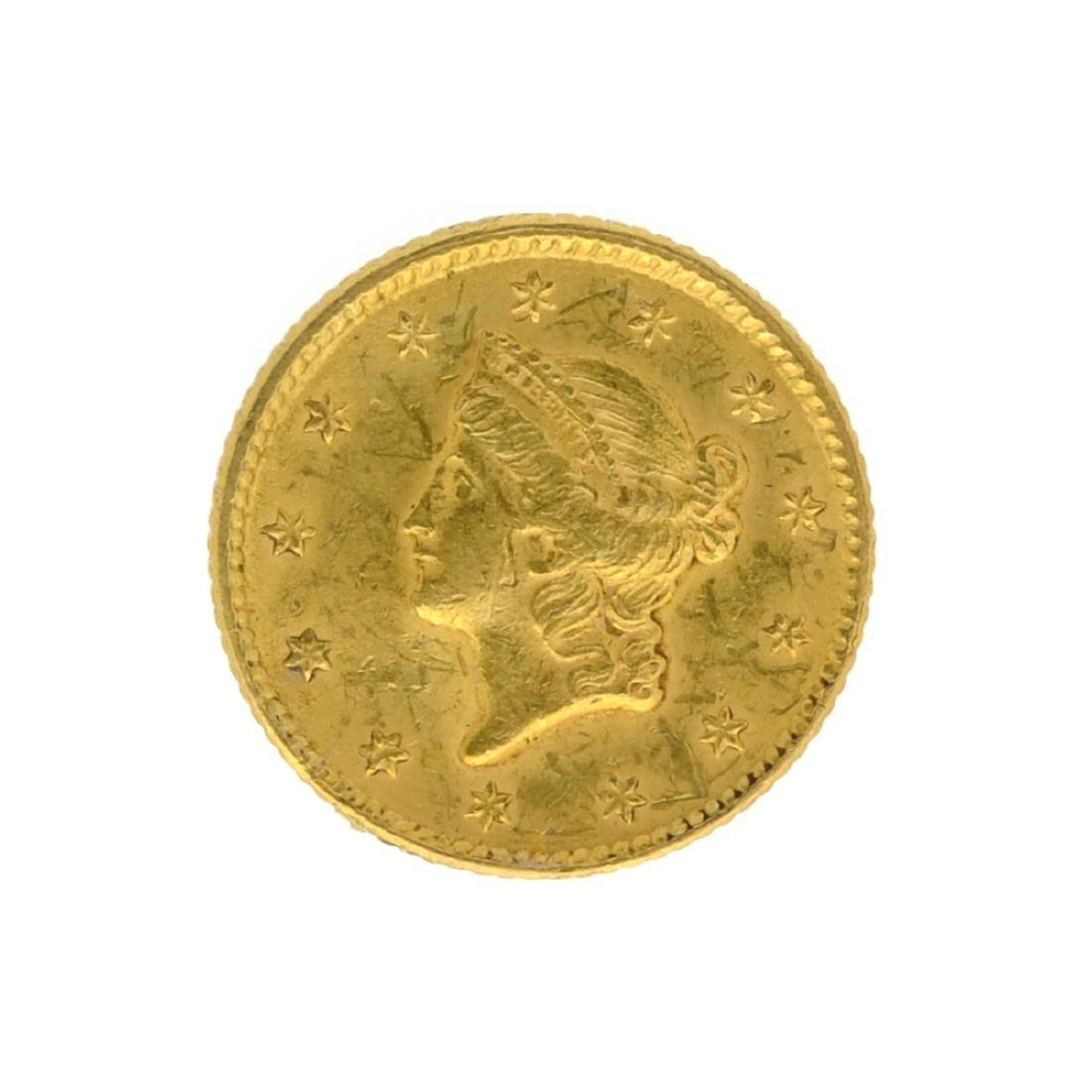*1851 $1 U.S. Liberty Head Gold Coin (JG-N)