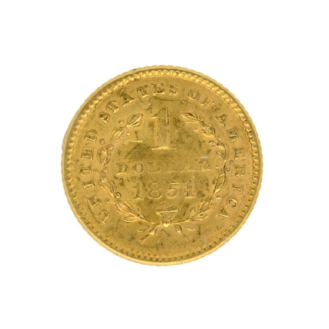 *1851 $1 U.S. Liberty Head Gold Coin (JG-N) - 2