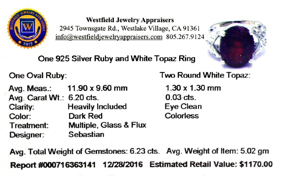 APP: 1.2k Fine Jewelry Designer Sebastian, 6.23CT Ruby - 2