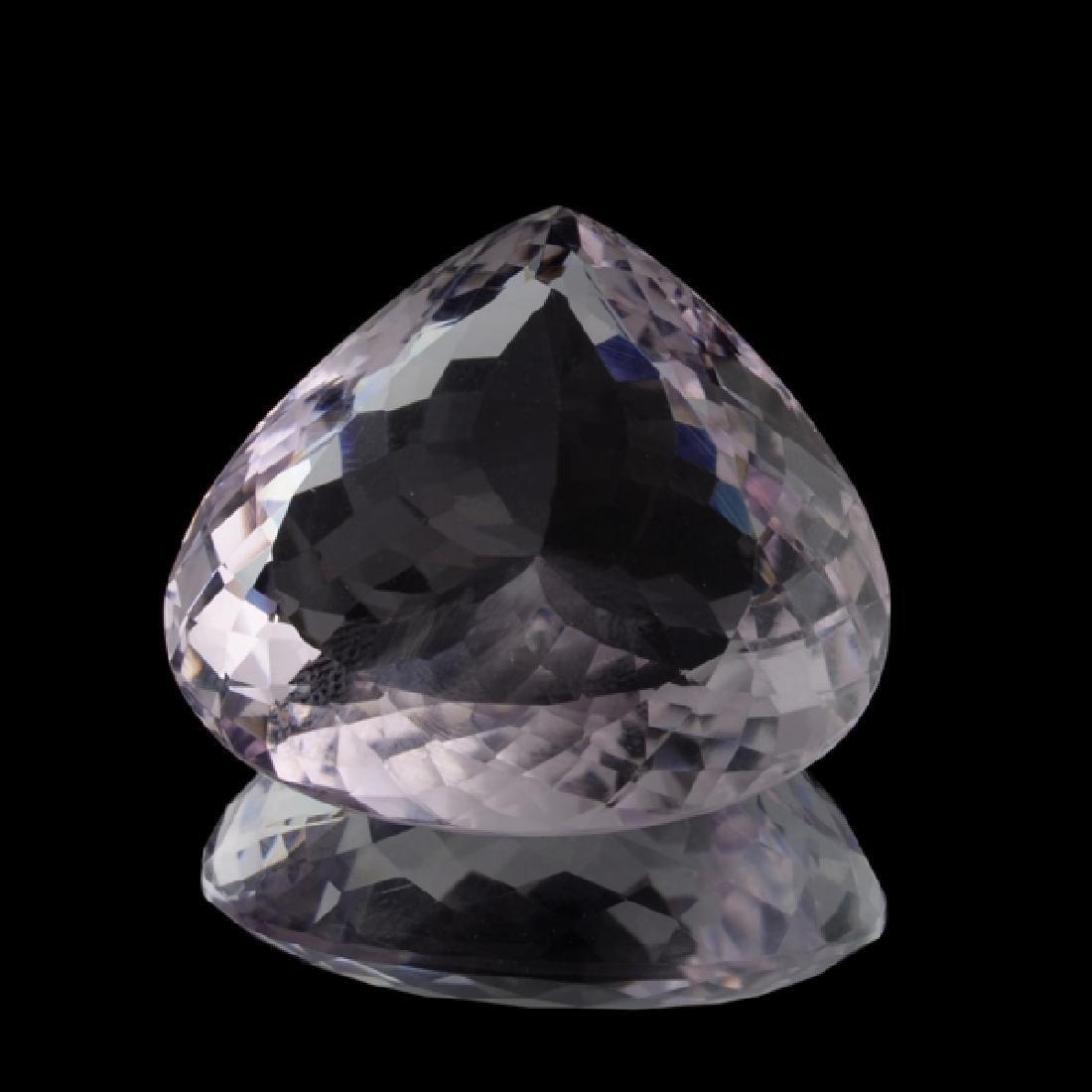 APP: 5.2k 74.15CT Pear Cut Amethyst Quartz Gemstone
